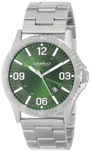 Caravelle New York 43B129 Green Dial Stainless Steel Quartz Men's Watch