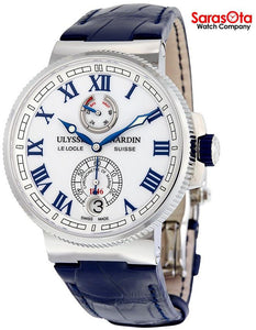 Ulysse Nardin Marine Chronometer 1183-126/40 Blue Leather Automatic Men's Watch