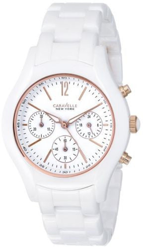 Caravelle New York 45L144 Chronograph White Ceramic Modern Women's Watch