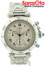 Cartier Pasha 1050 Ivory Dial Chronograph Stainless Steel Quartz Men's Watch