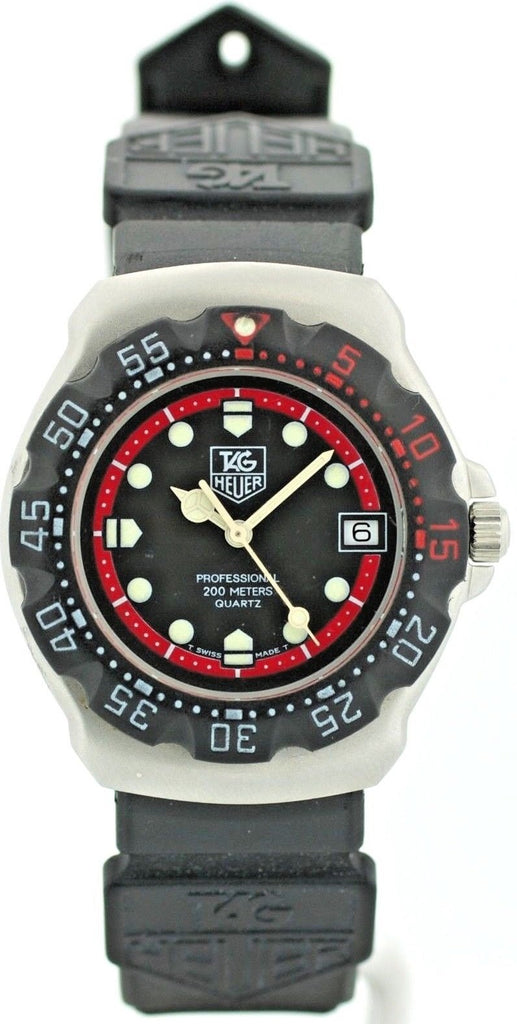 Tag Heuer Professional 374.513 Black Dial Rubber Quartz 200M Diver Women's Watch - Sarasota Watch Company
