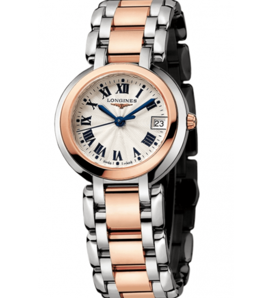 Longines L8.112.5.78.6 Primaluna 18k Rose Gold Steel 30mm Quartz Women's Watch - Sarasota Watch Company