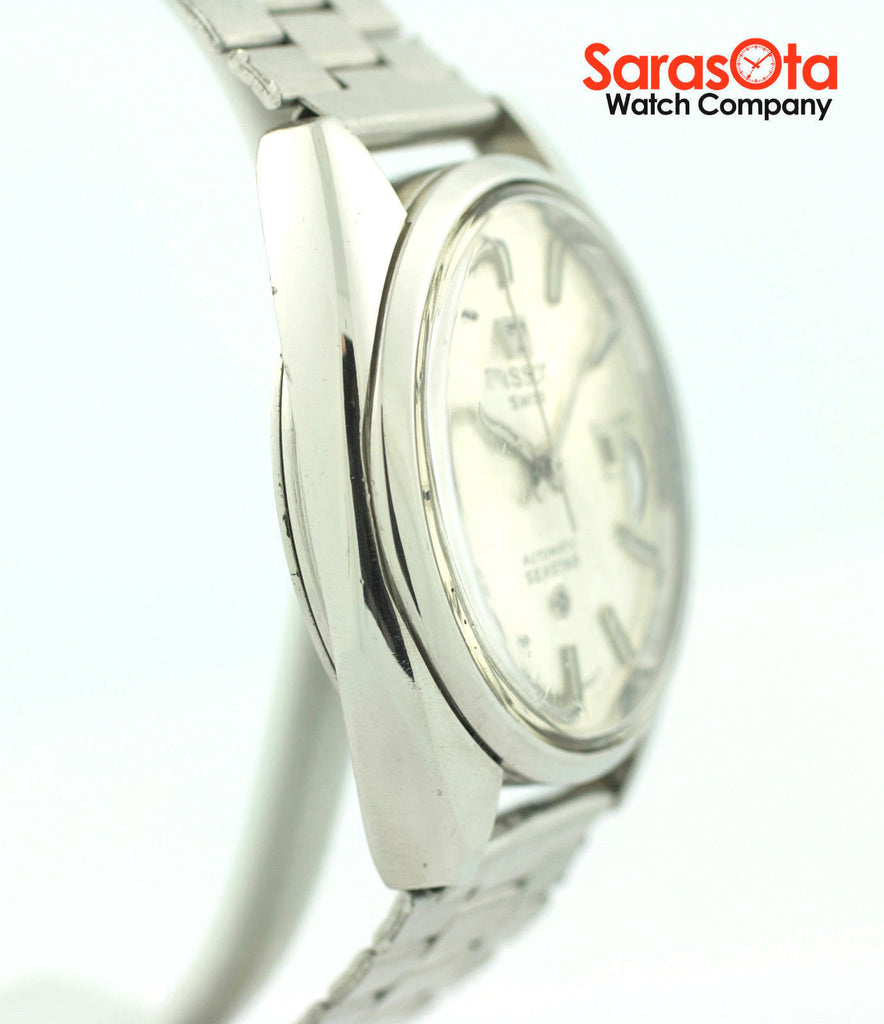 Vintage Tissot Seastar Silver Dial Stainless Steel Swiss Automatic Men's Watch