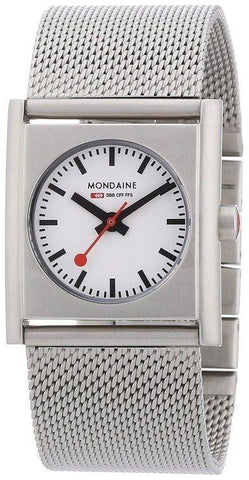 Mondaine A658.30320.16SBM White Dial Mesh Stainless Steel Quartz Women's Watch
