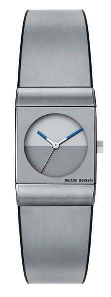 Jacob Jensen Classic Series 522 Steel/Titanium Rectangle Quartz Women's Watch