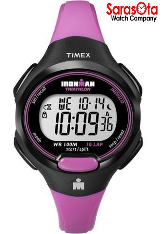 Timex T5K525 Ironman Pink/Black Resin Digital Sleek Sport Women's Watch