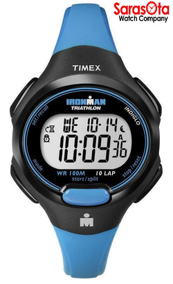 Timex T5K526 Ironman Blue/Black Resin Digital Sleek Sport Women's Watch