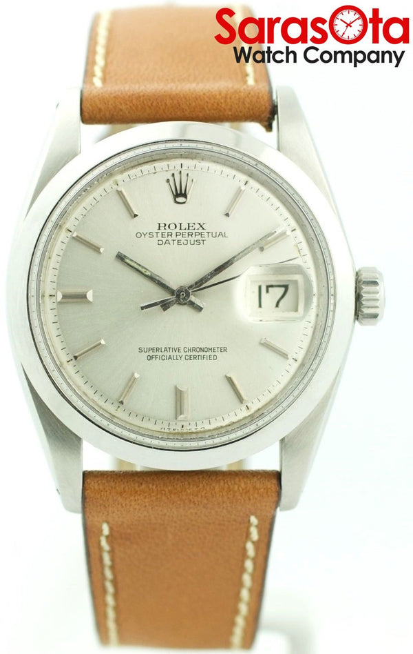 Rolex Datejust 1600 Silver Dial Stainless Case Automatic Men's Watch