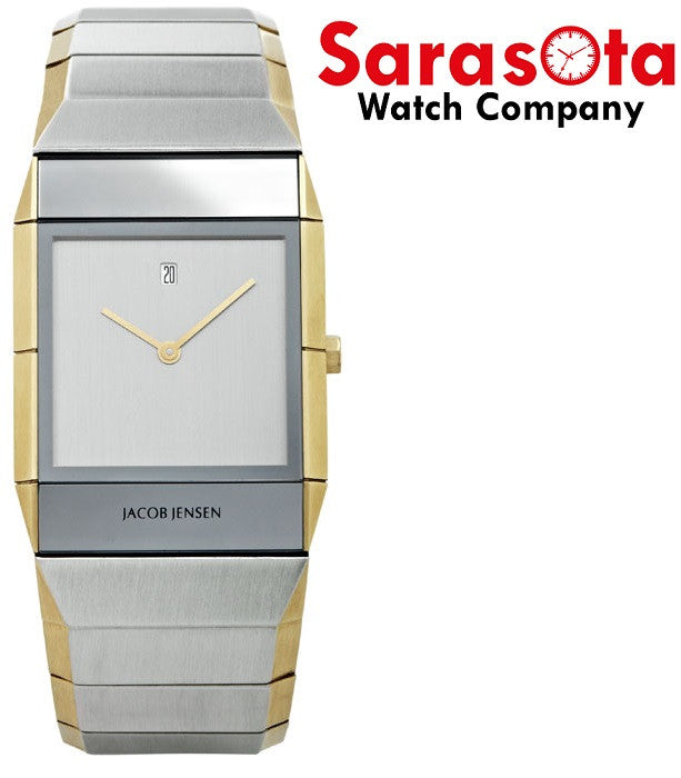 Jacob Jensen Sapphire Series 553 Stainless Steel Rectangle Quartz Men's Watch