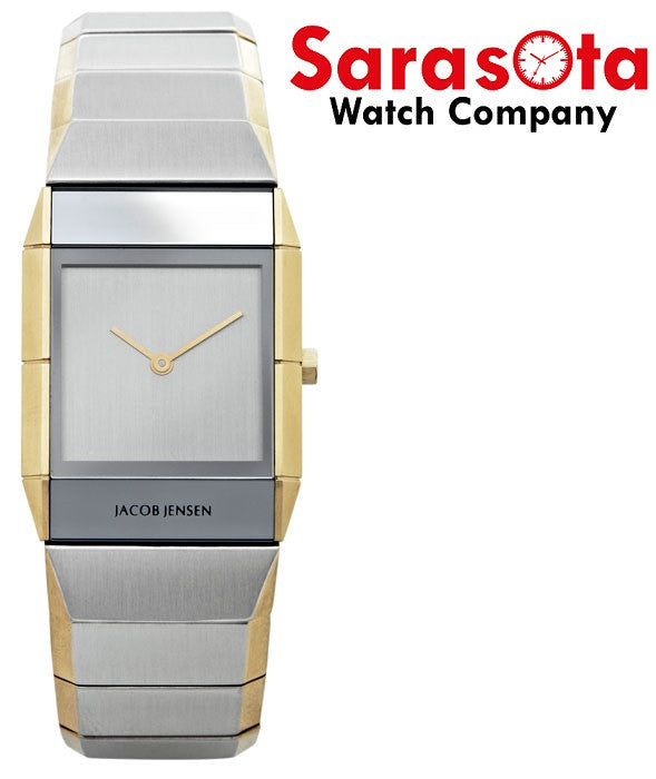 Jacob Jensen Sapphire Series 563 Stainless Steel Rectangle Quartz Women's Watch