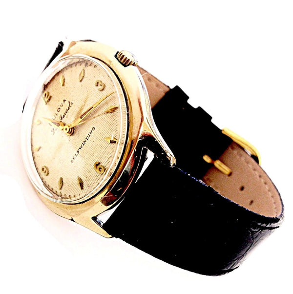 Vintage Bulova M0 E396757 23 Jewels 10K Gold Plated Self Winding Men's Watch