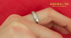 14K White Gold Approx 0.25 Ct Round Brilliant Cut Diamond Women's Ring Size 5.25