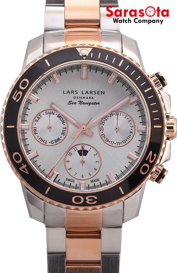 Lars Larsen 134SLSR Sea Navigator Limited Edition Two-Tone Men's Watch