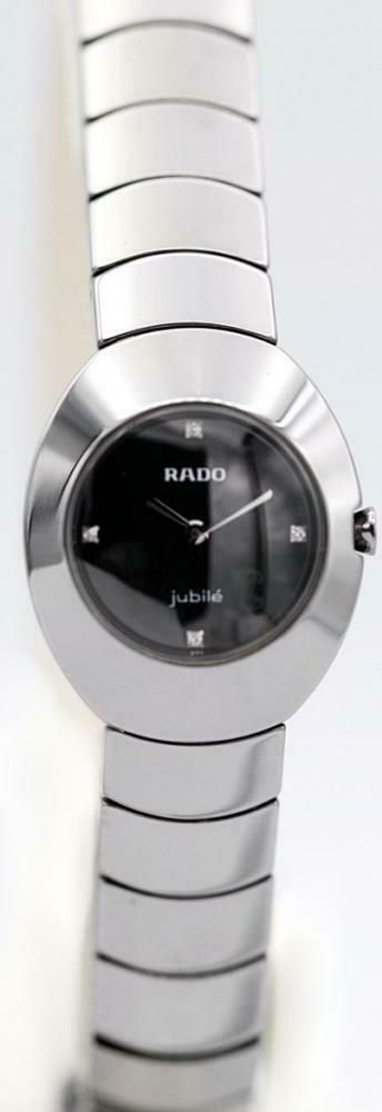 Rado Jubile 153.0495.3.071 Diamond Dial Ceramic Oval 25mm Quartz Women's Watch - Sarasota Watch Company