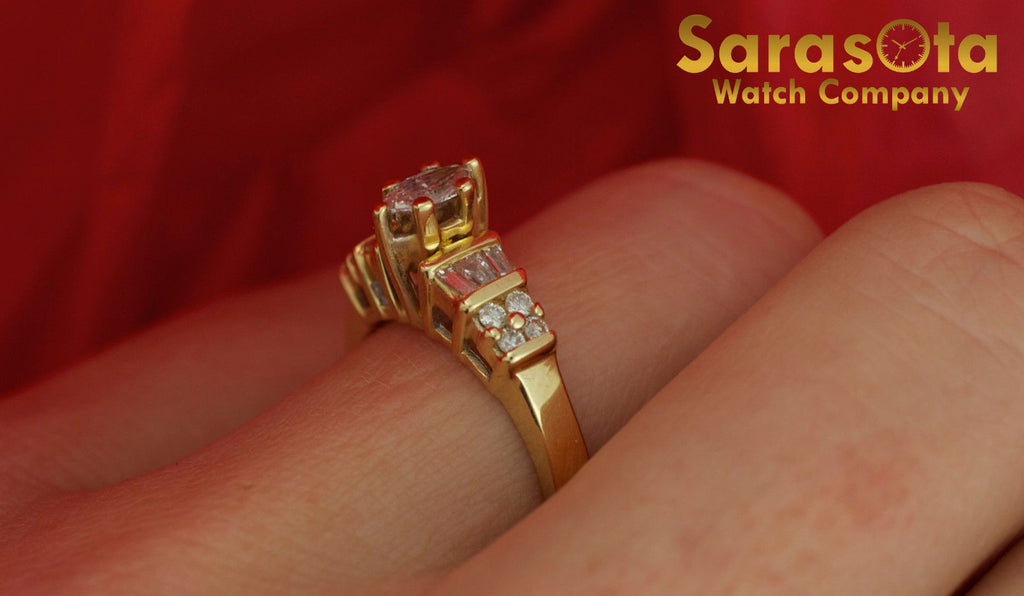 14K Yellow Gold Approx 0.30 Ct Diamond Women's Ring Size 5.25 - Sarasota Watch Company
