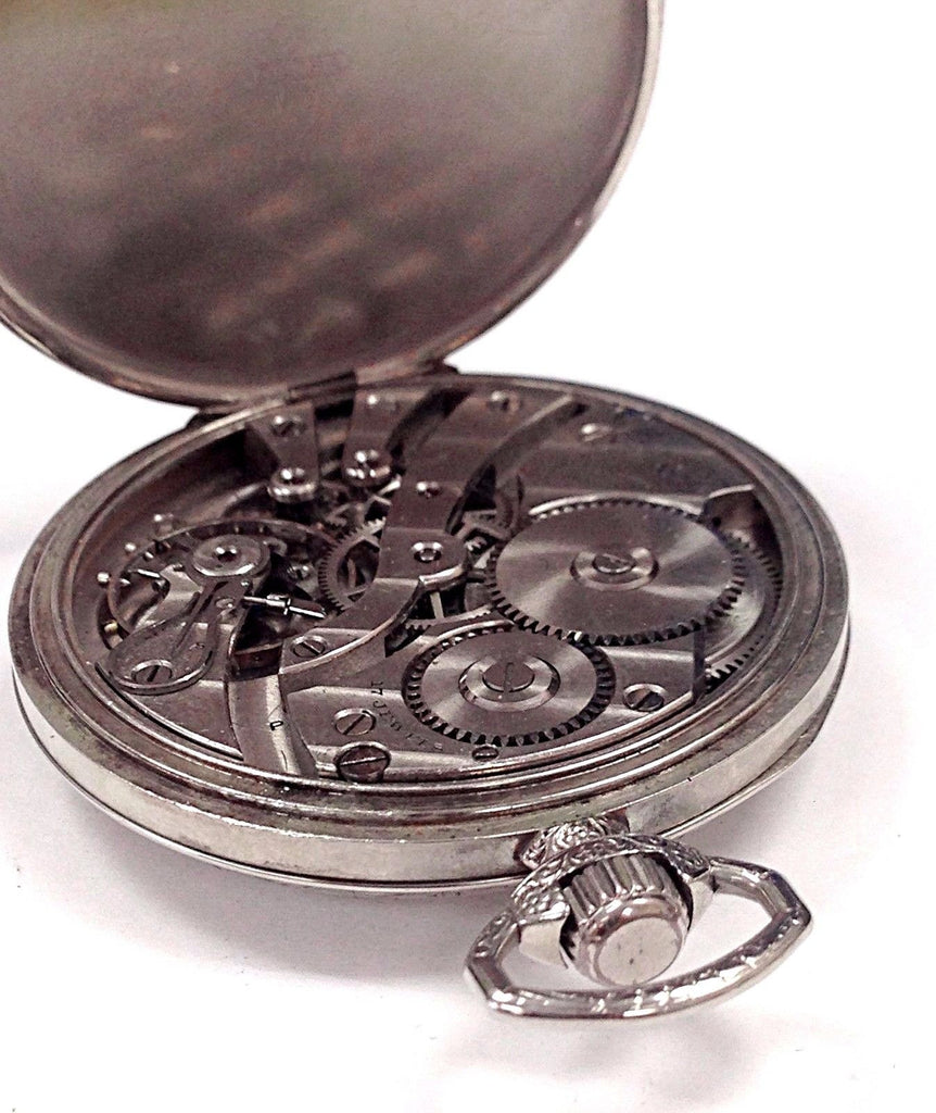 Vintage E. Howard 17 Jewels 3 Positions White Gold Filled Pocket Watch