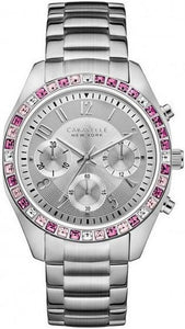 Caravelle New York 43L172 Crystal Bezel Stainless Steel Quartz Women's Watch