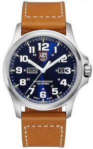 Luminox Atacama Field A.1924 Blue Dial Brown Leather Day Date Quartz Men's Watch