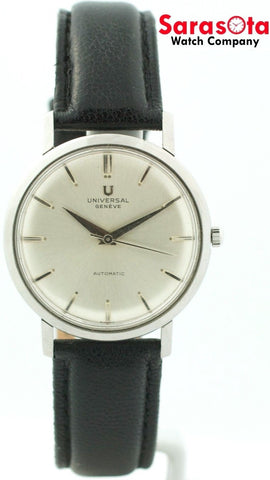 Vintage Universal Geneve Silver Dial Stainless Steel Automatic Men's Watch