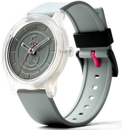 Q&Q RP00J004Y Grey Dial Solar Powered Grey Polyurethane Strap Unisex Watch