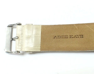 Adee Kaye AK193-M Chronograph MOP Dial Leather Strap Women's Dressy Watch - Sarasota Watch Company