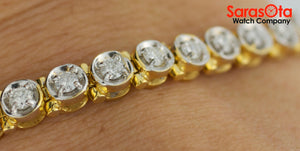 14K Yellow Gold Approx 2.0 Ct. Diamond's Ladies Tennis Bracelet - Sarasota Watch Company