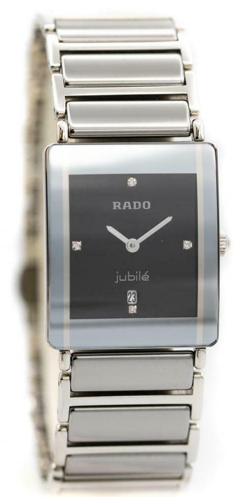Rado Integral Jubile R20486722 Platinum Gray Ceramic Diamond Quartz Ladies Watch - Sarasota Watch Company