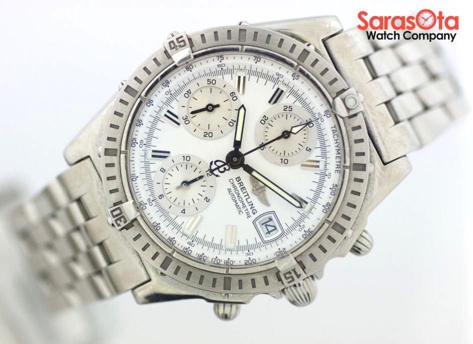Breitling Chronomat A13352 Chronograph Stainless Steel Automatic Men's Watch - Sarasota Watch Company