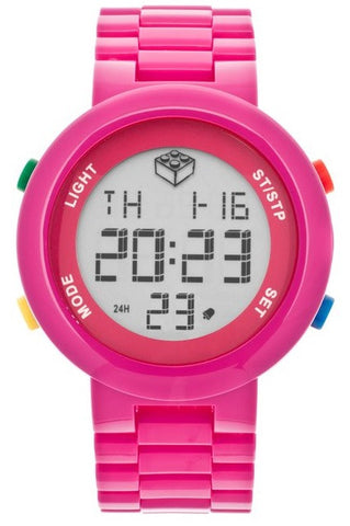 Lego Digifigure 9007422 Digital Display Pink Plastic Women's Watch