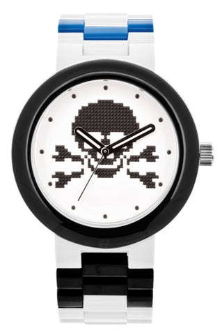 Lego 9007552 Brick White Plastic White/Black Dial Quartz Unisex Watch