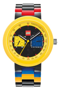 Lego 9008030 Two by Two Day & Date Black/Yellow Plastic Unisex Watch