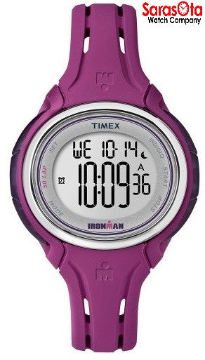Timex T5K904 Ironman Day/Date Plum Resin Strap Digital Sport Women's Watch