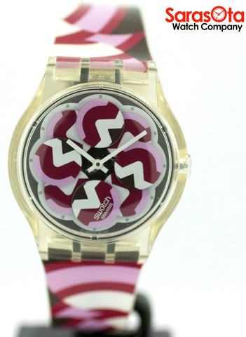 Swatch SR626SW Multi Color Plastic Band Multi Color Dial Quartz Women's Watch