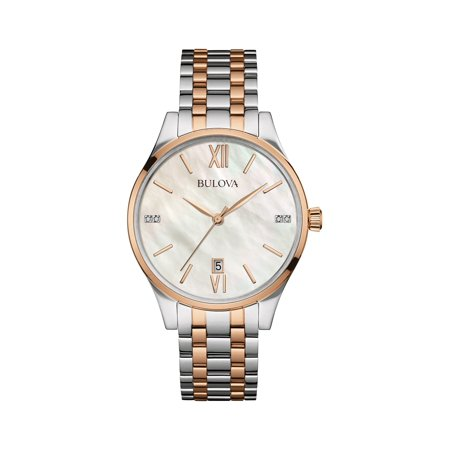 98P150 Stainless Steel MOP Diamond Dial Two-Tone Women's Watch