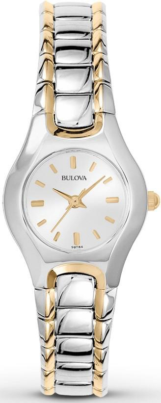 Bulova 98T84 Silver Dial Two Tone Stainless Steel Quartz Classic Women's Watch - Sarasota Watch Company