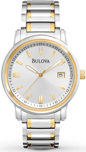Bulova 98B157 Silver Dial Two Tone Stainless Steel Quartz Men's Watch