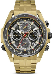 Bulova 98B271 Chronograph Gold Tone Stainless Steel Quartz Dress Men's Watch