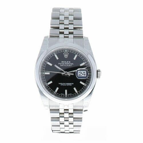 Rolex Datejust 116200 Stainless Steel Black Dial 36mm Automatic 2015 Men's Watch