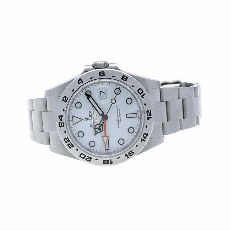 Rolex 216570 Explorer II White Dial Stainless Steel Oyster Automatic Wrist Watch - Sarasota Watch Company