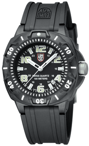 Luminox Sentry A.0201.SL Black Carbon Case Rubber Swiss Quartz Sport Men's Watch