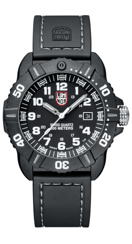 Luminox Coronado A.3021 Black Carbon Case Rubber Swiss Quartz Sport Men's Watch