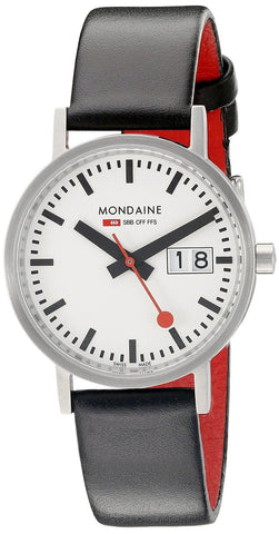 Mondaine A669.30008.16SBO Classic Big Date Stainless Steel Leather Men's Watch