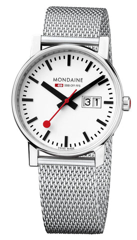Mondaine A669.30305.11SBM Evo Big Date Steel Mesh Swiss Quartz Women's Watch