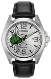 Citizen Eco-Drive AW1431-24W The Hulk Marvel Steel 45mm Leather Solar Mens Watch