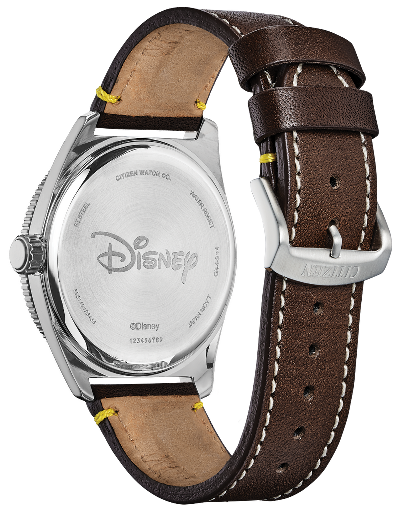 Citizen Eco-Drive AW1599-00W Disney Mickey Mouse Brown Leather Solar Men's Watch