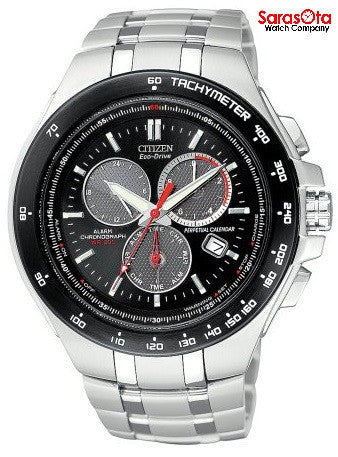Citizen Eco Drive BL5334-55E Chronograph Black Dial Stainless Steel Men's Watch