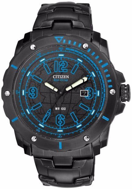Citizen Eco Drive BM7277-50E Black Ion Plated Stainless Steel Men's Watch