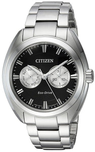 Citizen Eco Drive BU4010-56E Black/Silver Dial Stainless Steel Men's Watch