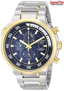Citizen Eco Drive CA0444-50L Chronograph Two Tone Stainless Steel Men's Watch