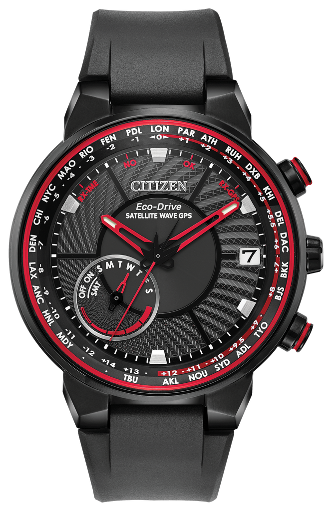 Citizen Eco-Drive CC3039-08E Satellite Wave GPS Freedom Rubber 44mm Men's Watch